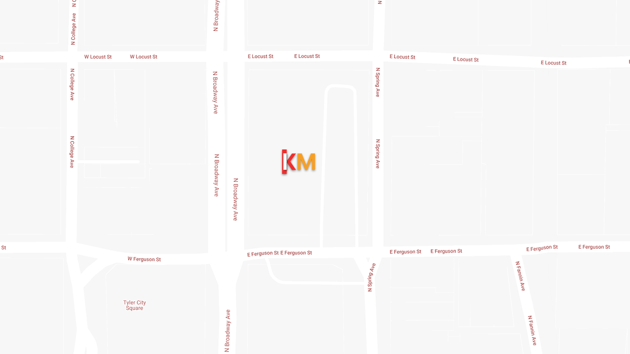 Keith Miller Tyler, TX Location Map